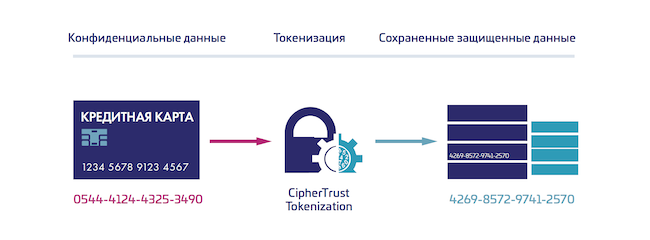 Функциональная архитектура CipherTrust Tokenization из состава CipherTrust Data Security Platform