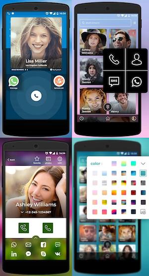 Интерфейс приложения Eyecon («Айекон») от Eyecon Global
