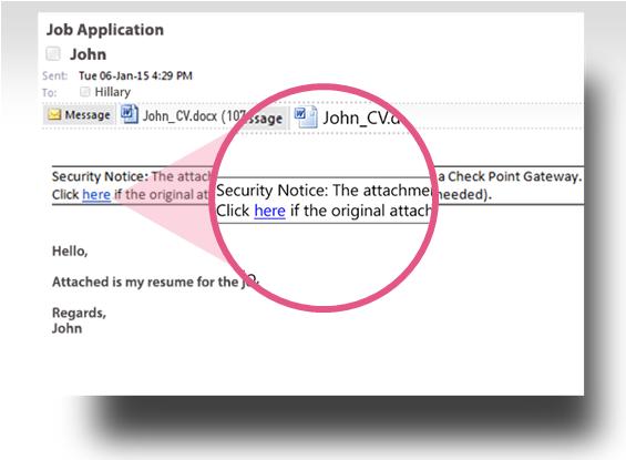 Пример письма с очищенным файлом