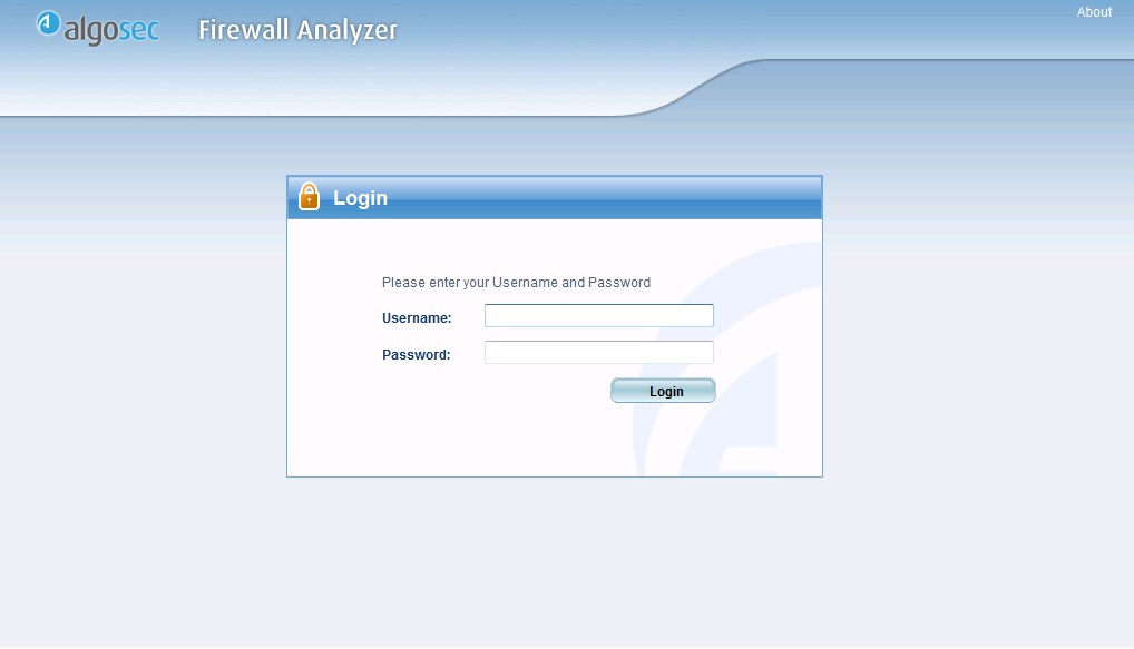 Процесс авторизации в AlgoSec Firewall Analyzer
