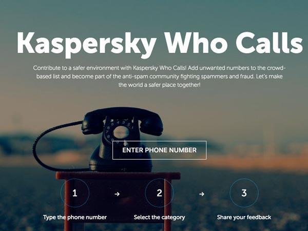 Kaspersky Who Calls поможет бороться с телефонными мошенниками и спамом