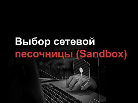 Выбор сетевой песочницы (Sandbox)