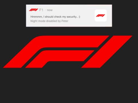 Любители Формулы-1 получили пугающие пуш-уведомления от хакера