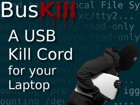 Кабель BusKill уничтожит личные данные на Linux-ноутбуке в случае кражи