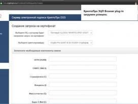 Установка расширения и плагина для работы с КриптоПро DSS