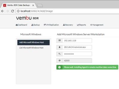 Обзор Vembu BDR Suite 3.8