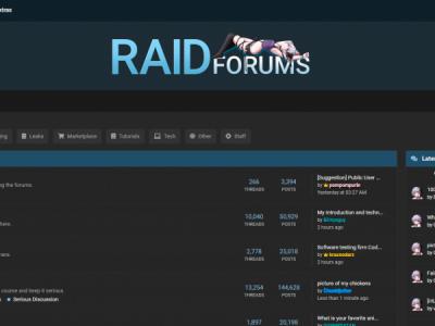 Хакерский форум RaidForums случайно раскрыл внутренние страницы