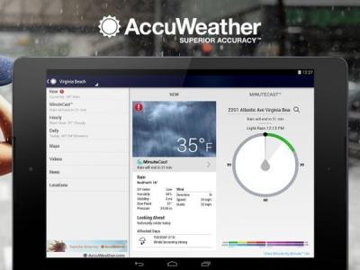Приложение о погоде AccuWeather шпионило за пользователями