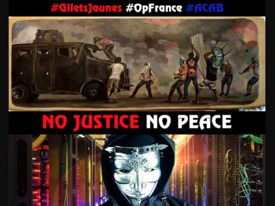 Anonymous опубликовали персональные данные французских полицейских