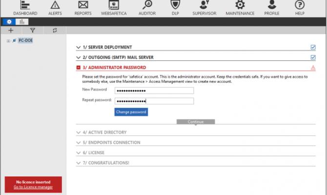 Настройка аккаунта Офисный контроль и DLP Safetica