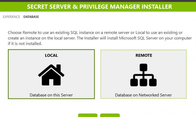 Выбор SQL-сервера для развертывания Thycotic Secret Server