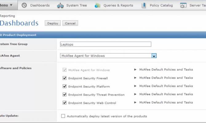 Настройка McAfee Endpoint Security