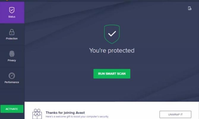 Экран приветствия Avast Business Antivirus Pro