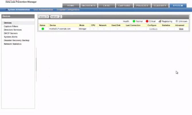 Отслеживание инцидентов нарушения безопасности в McAfee DLP Monitor