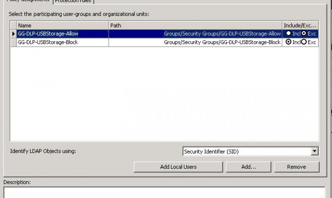 Настройка прав доступа к внешним устройствам в McAfee Device Control
