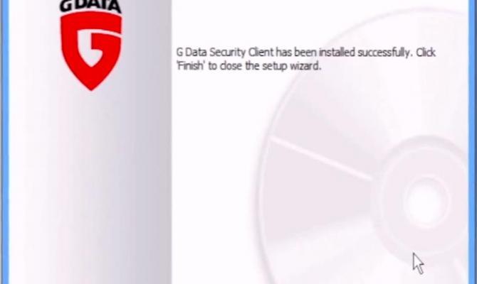 Окончание установки G Data Antivirus Business