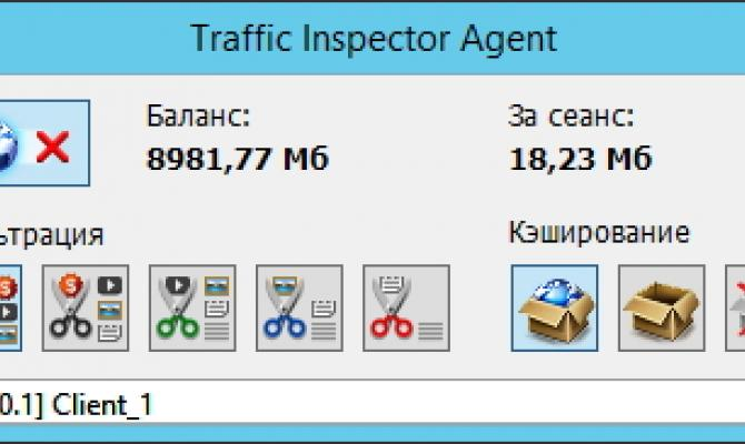 Клиентский агент Traffic Inspector