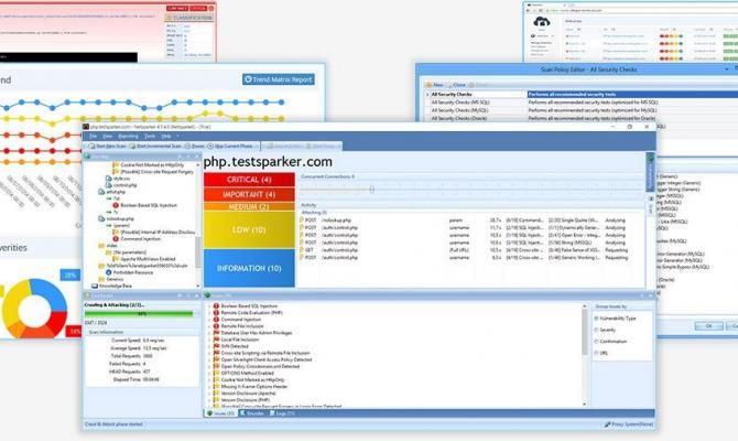 Рабочее окно Netsparker Enterprise