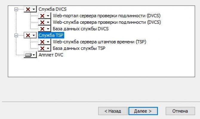 Выбор компонентов установки Litoria DVCS