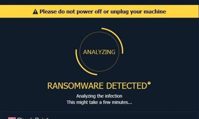 Процесс автоматического устранения последствий и восстановления данных с помощью компонента Anti-Ransomware в SandBlast Agent