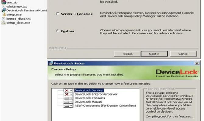 Установка управляющего сервера DeviceLock DLP Suite