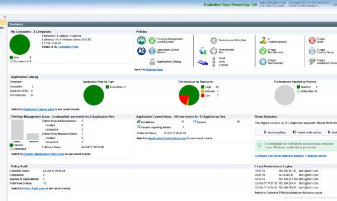 CyberArk Endpoint Privilege Manager. Веб-интерфейс