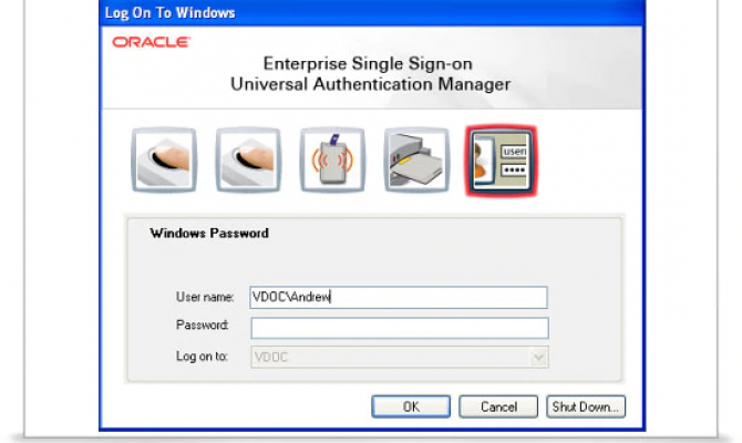 Oracle Enterprise Single Sign-on централизованная структура для управления безопасностью