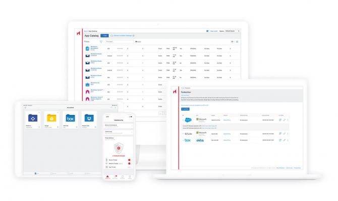 MobileIron Unified Endpoint Management Platform. Интерфейс на разных устройствах
