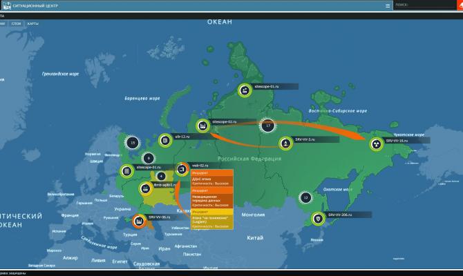Карта атак. Security Vision SOC