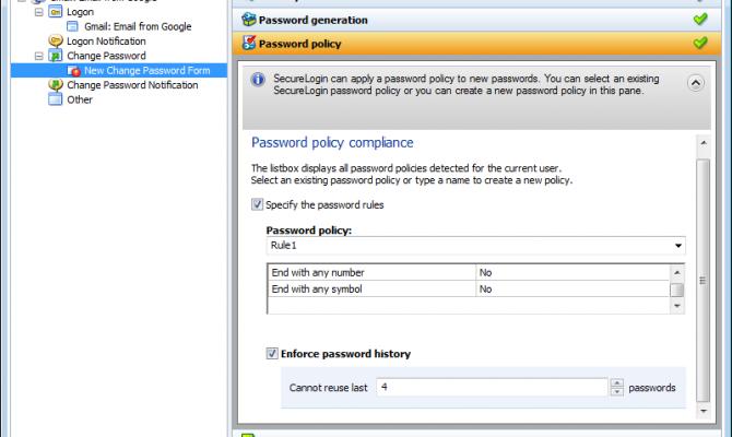 Форма установки пароля Micro Focus SecureLogin