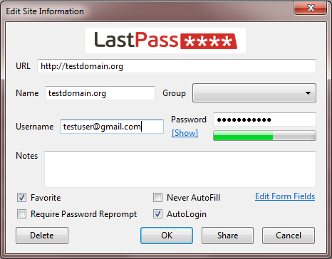 Last Pass менеджер паролей для  Firefox, Internet  Explorer,   Google Chrome