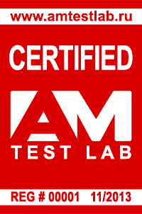 Certified by AM Test Lab