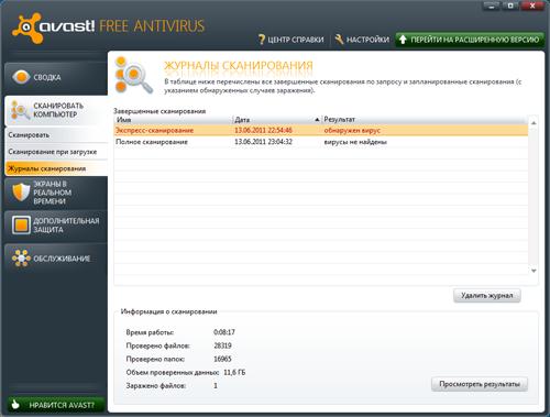 Обзор Avast! Free Antivirus 6