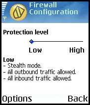 Symantec Mobile Security 4.0 for Symbian - настройка firewall