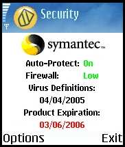 Symantec Mobile Security 4.0 for Symbian - антивирусный монитор